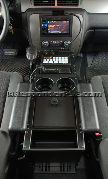 Havis Equipment Console installed in our Tahoe