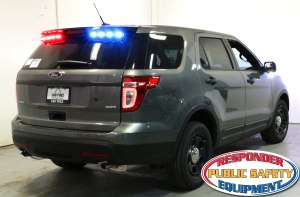 Ford Interceptor SUV with D&R MR6TL-EXPLORER exterior lightbar.